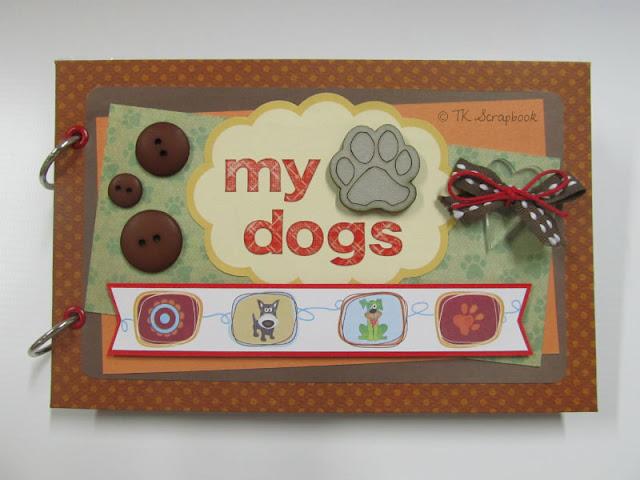 album de fotos scrapbook para cachorro dog