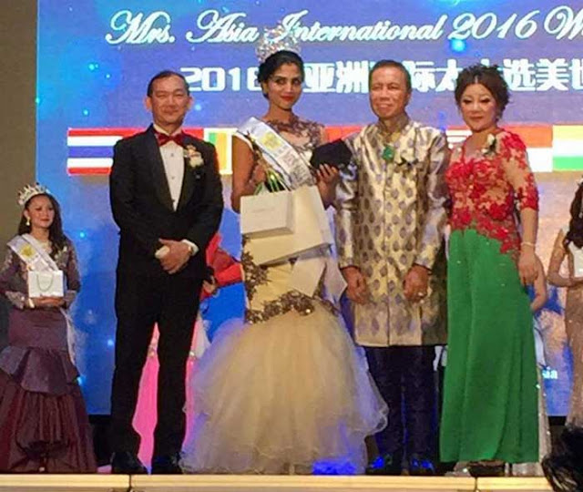 Seema Subedi's winning moment at Mrs Asia International 2016