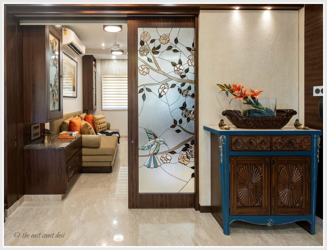 The east coast desi for Foyer design ideas india
