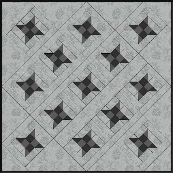 Ninja Stars quilt design | DevotedQuilter.blogspot.com