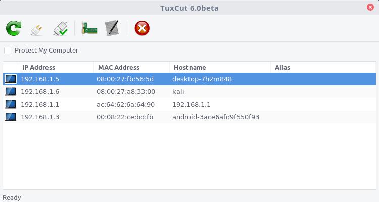 تثبيت اداة التحكم بالانترنت Tuxcut علي أنظمة لينكس البديل لـ Netcut وايضا Selfishnet