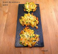 Snack de verdura y queso