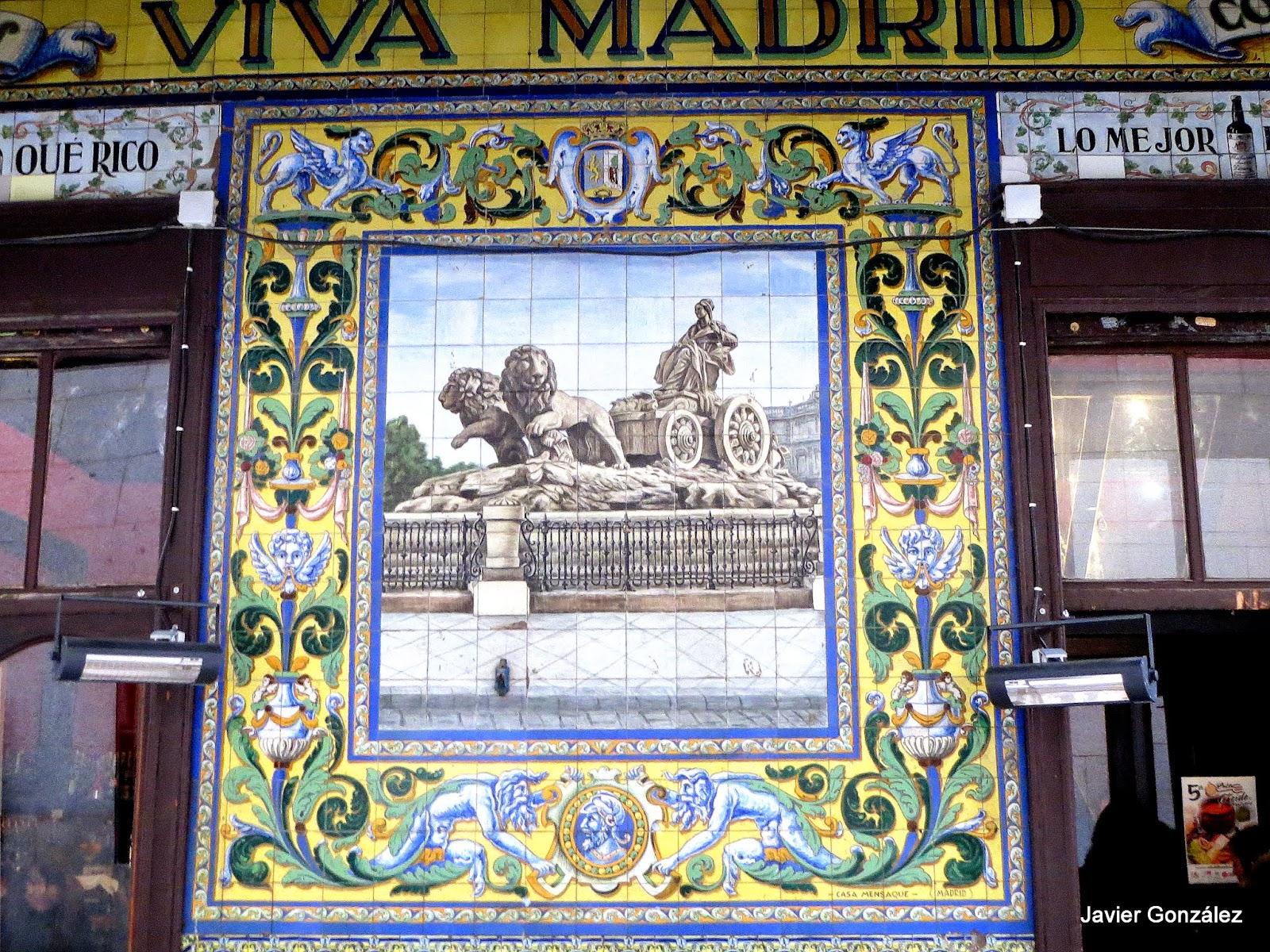 Taberna Viva Madrid. Azulejos