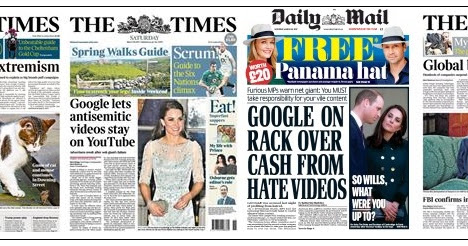 The Press v Google - or pots v kettles