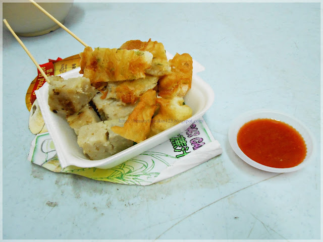Prawn cracker and yam cakes, Chinese street food to try in Teluk Intan, Perak, Malaysia
