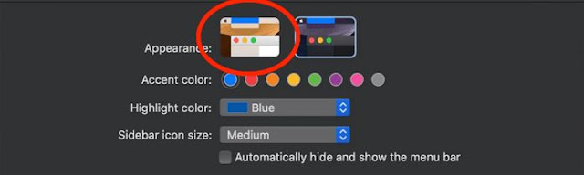 dark mode appearance on mac