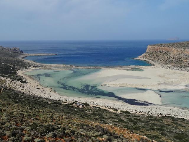 jak wygląda laguna Balos na Krecie z góry?