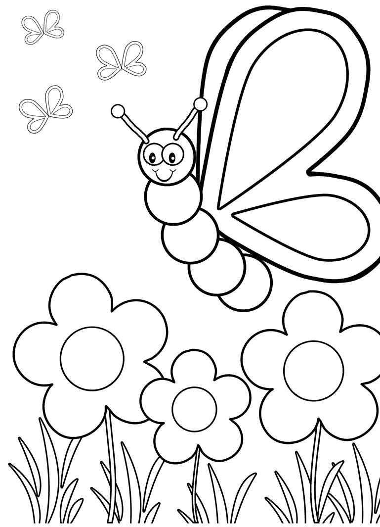 Anda dapat menempelkan hasil dari gambar mewarnai anak anak anda dan anda akan dapat menyaksikan kupu kupu dan bunga yang indah dan cantik dimanapun anda
