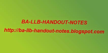 BA-LLB Handout Notes