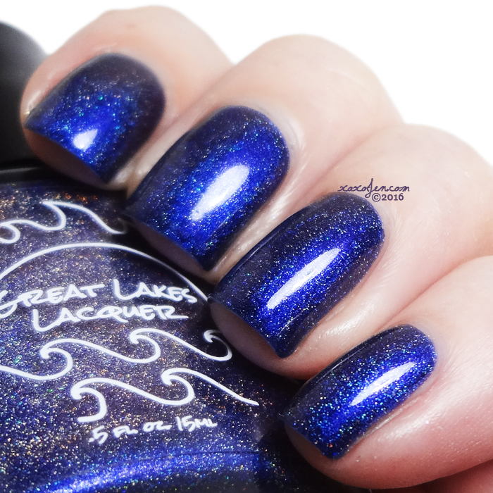 xoxoJen's swatch of Great Lakes Lacquer Blue Skies From Pain