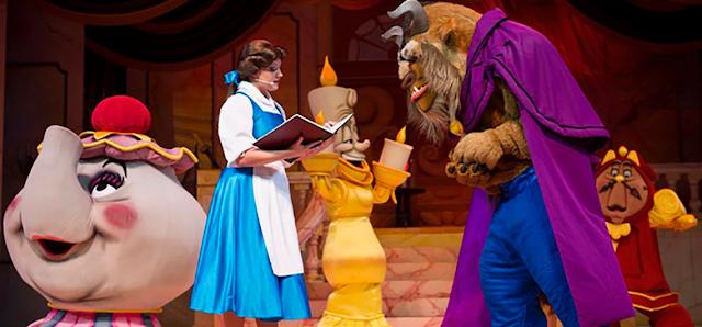 onde encontrar a princesa Bela nos parques da Disney
