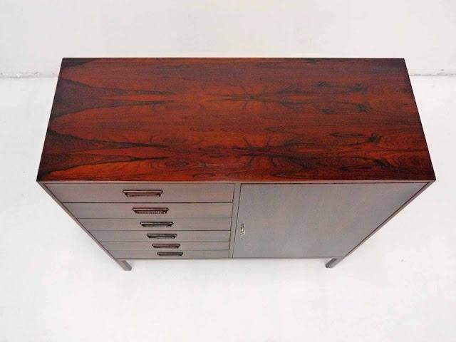 Arne Wahl Iversen Danish Rosewood Dresser Vinde Mobelfabrik 3