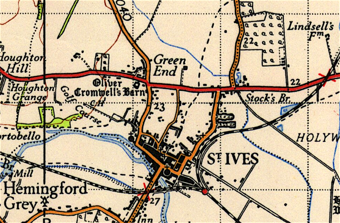 Map of St Ives, Cambridgeshire 1946