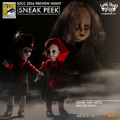 Mezco Living Dead Dolls Hansel and Gretel and The Witch Dolls