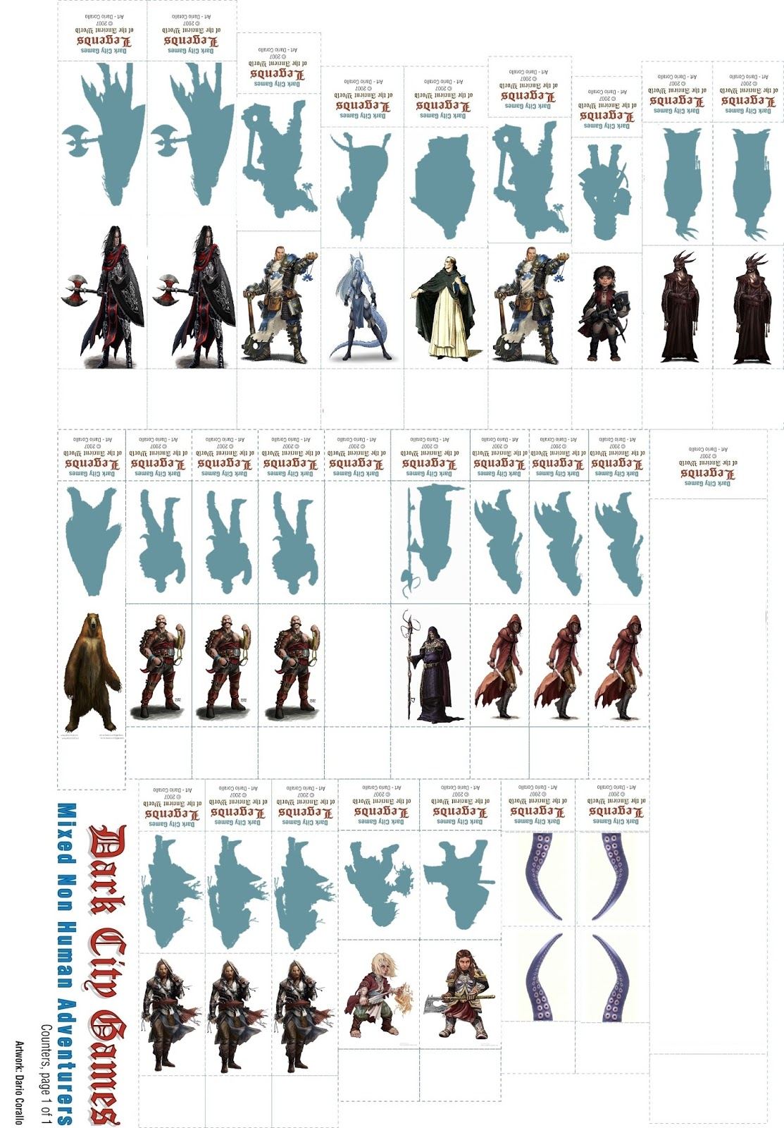 It is a graphic of Mesmerizing Printable D&d Miniatures