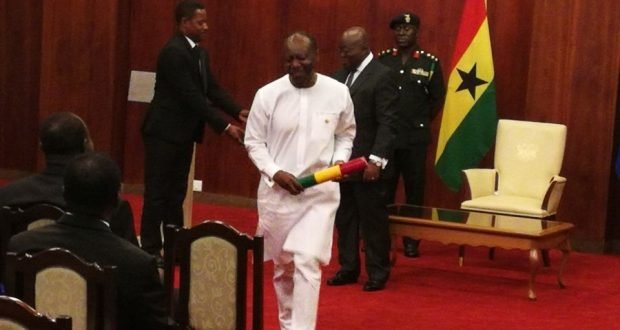 Akufo-Addo swears in 12 ministers