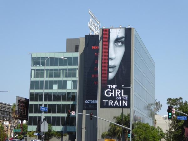 Girl on the Train movie billboard