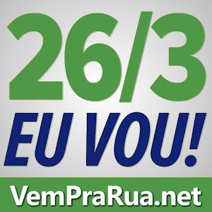 Vem pra rua Brasil 26 de março foto cor branca