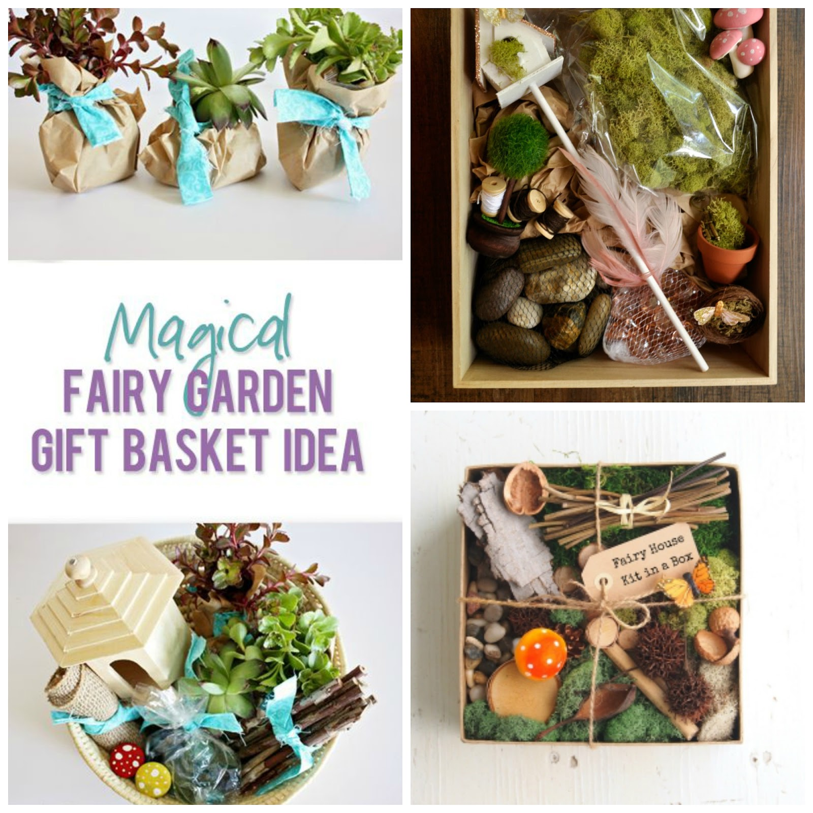 here are a few gorgeous ideas to make your own fairy garden gift kit or purchase a ready made kit filled with fairy garden supplies. beautiful ideas. Home Design Ideas