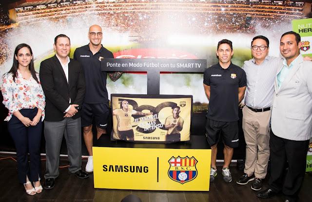 Presentan Samsung Smart TV Barcelona, un homenaje a la hinchada más grande del Ecuador