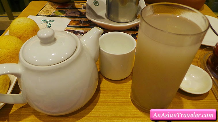 barley water and jasmine tea