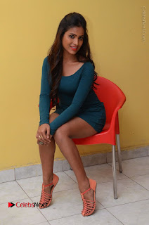 Telugu Actress Prasanthi Stills in Green Short Dress at Swachh Hyderabad Cricket Press Meet  0089.JPG