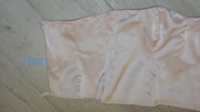 silk satin wedding dress bodice
