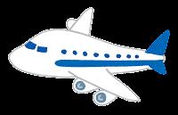 飛行機のイラスト(青)