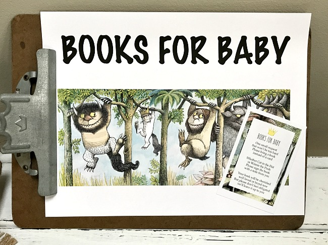 book box idea for where the wild things are