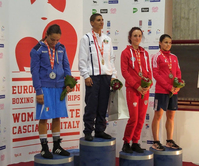 EUBC European Union Women's Boxing Championships, boks kobiet, EUBC, PZB, Brachole, Kinga Szlachcic, Adriana Marczewska, Cascia, Włochy, medal,
