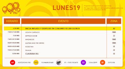 programa festival del globo león 2018