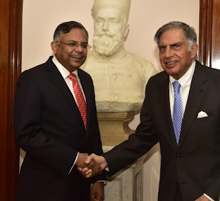 Photo caption: Mr. N. Chandrasekaran, Chairman, Tata Sons, with Mr. Ratan N. Tata, Chairman Emeritus, Tata Sons.