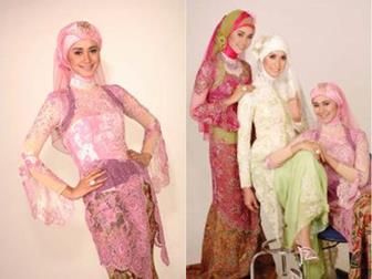 Model Busana Kebaya Muslim Untuk Resepsi Akad Nikah