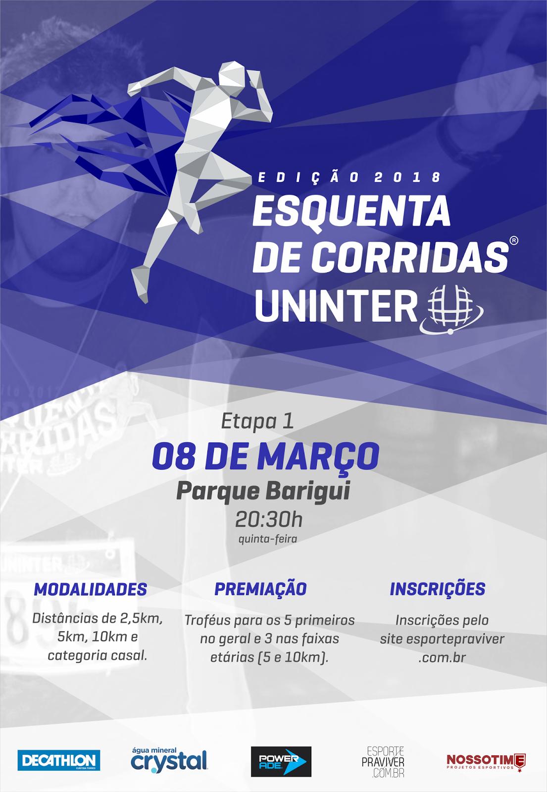2da278f2e ESQUENTA DE CORRIDAS UNINTER 2018 - ETAPA 1 - PARQUE BARIGUI