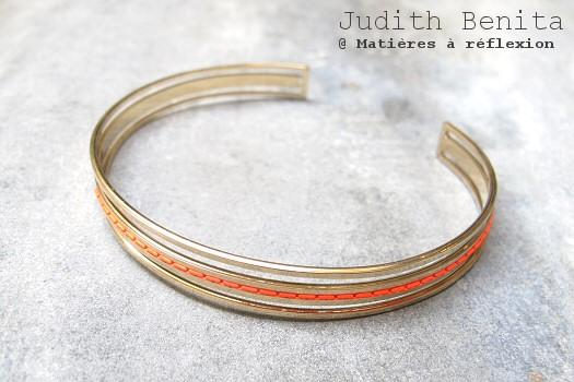 PROMO bracelet jonc rouge Isme Judith Benita