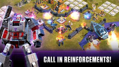 Tampilan Game Transformers Earth Wars