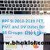 RPF SI 2018-2019 PET, PMT and DV Dates for All Groups: Check Here