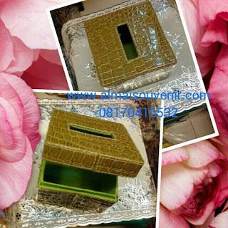 souvenir eksklusif box tisu finil motif buaya