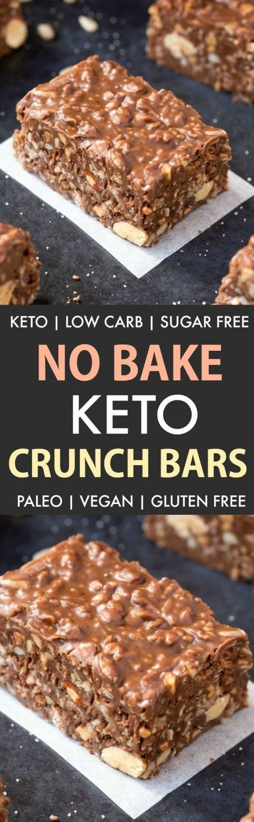 Homemade Keto Chocolate Crunch Bars Recipe