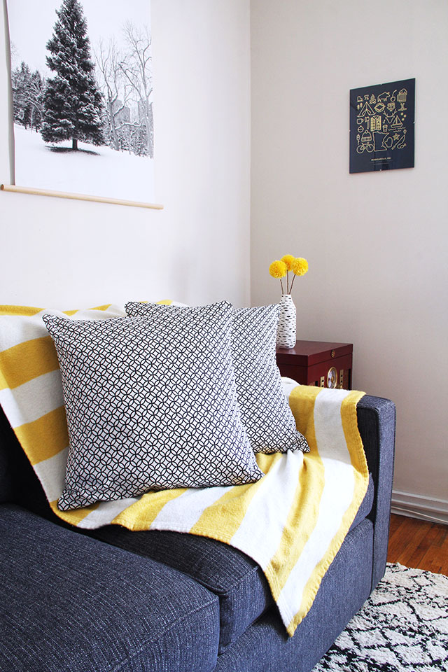 Envelope Pillow Cover tutorial: Add a pop of fun to any room on the cheap!
