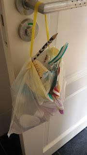 vuilniszak uit badkamer