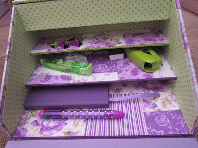 escritorio, ecritoire, stationery set, cartonnage, broderie, bordado, embroidery