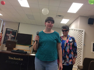 Kimberly and Laurel presenting for the Friends of Bartimaeus