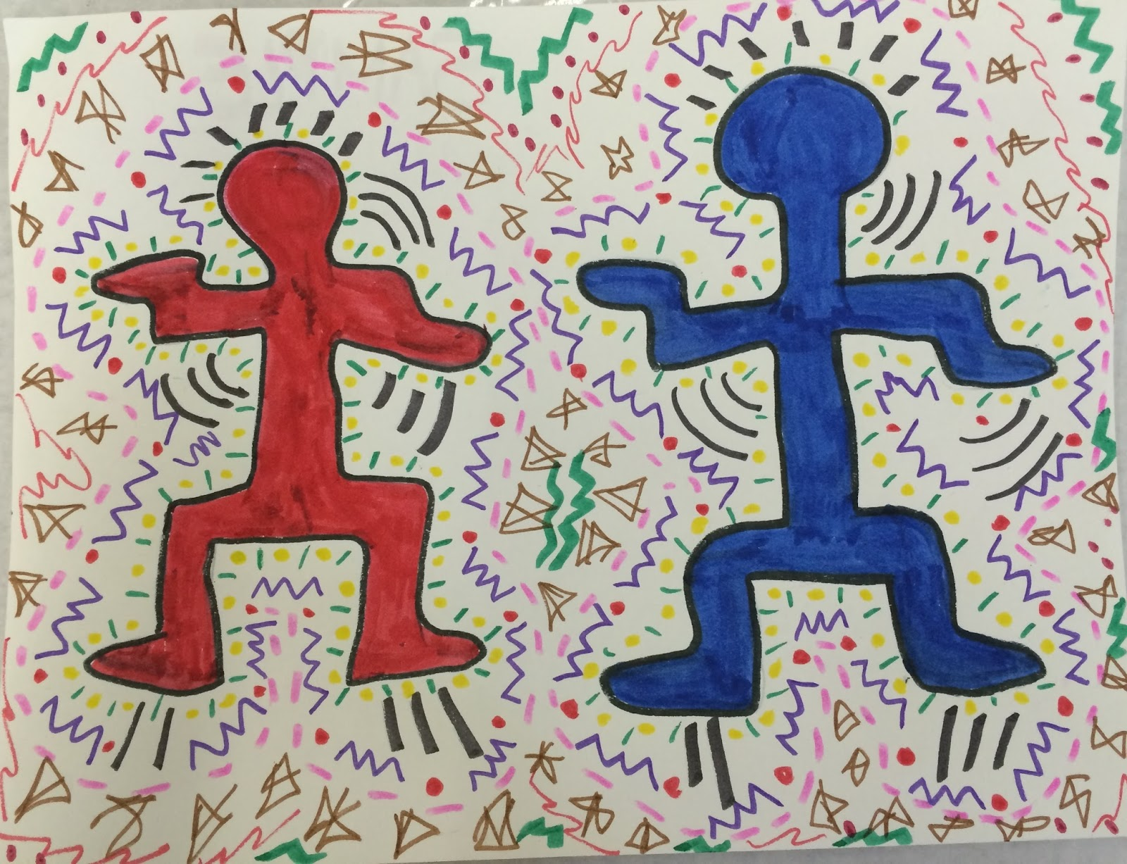 Ms C S Artroom Keith Haring Characters