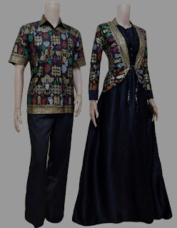 Model baju batik couple model long dress