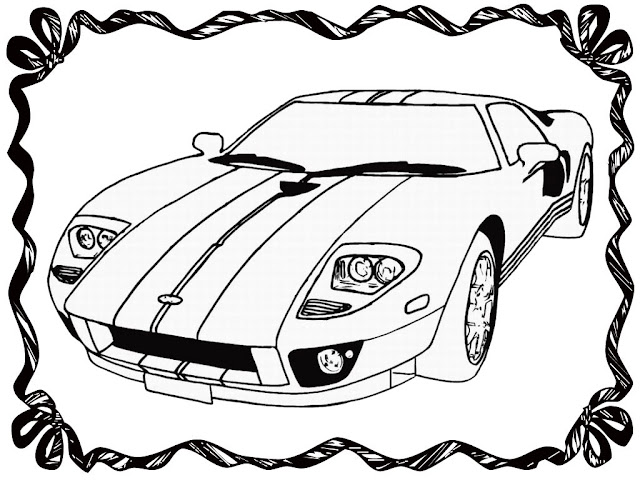 Race Car Coloring Book Pages