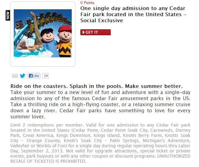 Cedar point discount coupons