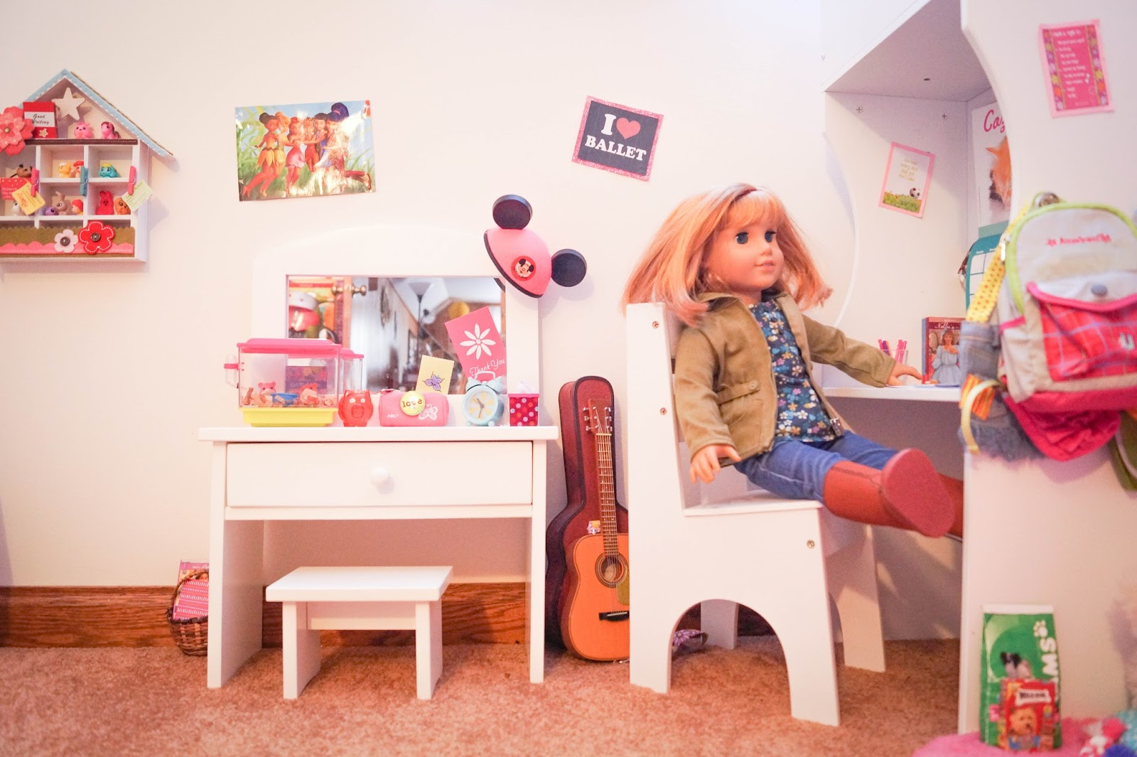 american girl doll play our american girl doll playroom. Black Bedroom Furniture Sets. Home Design Ideas