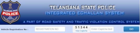 Telangana Vehicle Traffic Complaint echallan status Online
