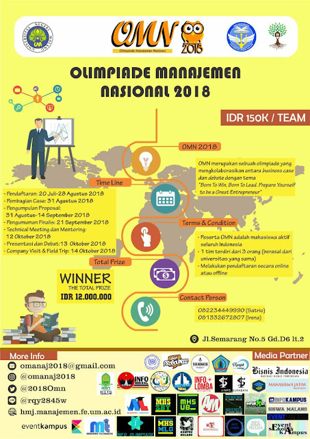 Olimpiade Manajemen Nasional Business Case and Debate Competition 2018